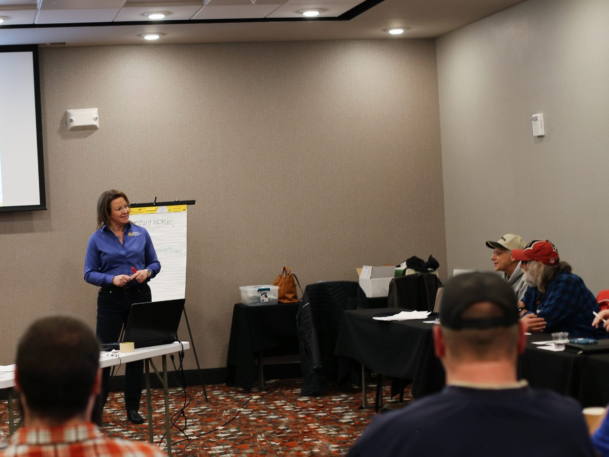 Kellie Ecker teaching Lean Certification