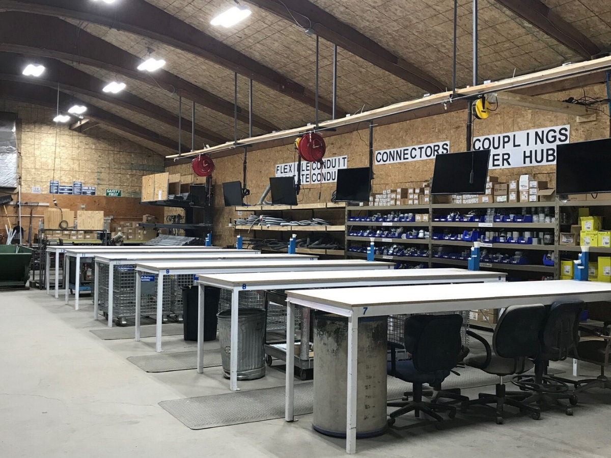 Muth Electric organized facility