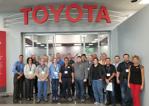 Photo of MTS group visiting Toyota plant in Kentucky