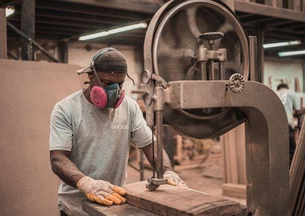 man working in manufacturing